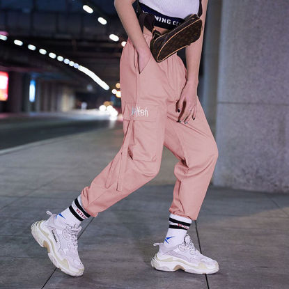 Picture of Cotton pants female student tide brand ins loose bf straight overalls women