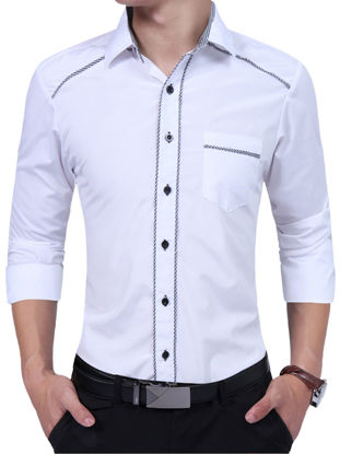Picture of Men's Shirts Color Striped All Match Casual Shirts