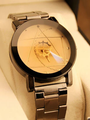 Picture of Men's Fashion Watch Geometric Pattern Gear Design Stylish Watch