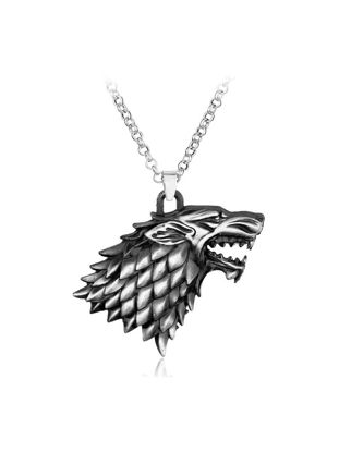 Picture of Men's Necklace Retro Style Wolf Head Pendant Necklace Accessory