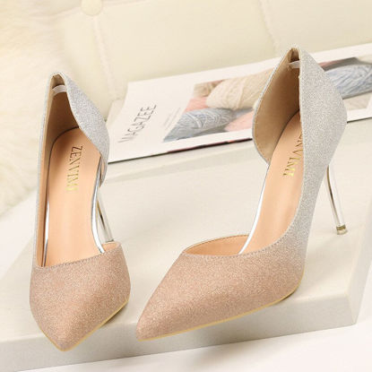 Picture of Women's Pumps Color Block Gradient Color Elegant High Heel Pointed Toe Shoes