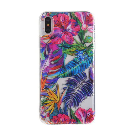 Picture of iPhone XS/XS Max/XR/X/8/8 Plus/7/7 Plus/6/6S/6 Plus/6S Plus Phone Cover Colored Plant Pattern TPU Phone Case