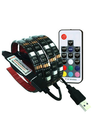 صورة String Light Removeable Remote Control Changeable TV Background Decorative Light