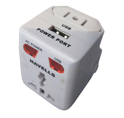 Picture of havells universal travel adapter with usb 3A