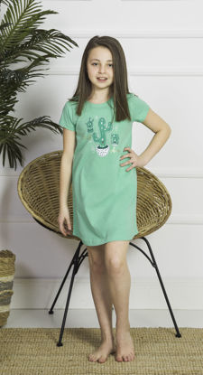 Picture of GIRLS TUNIC GREEN COTTON