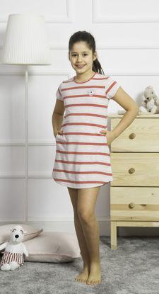 Picture of GIRLS TUNIC CORAL COTTON