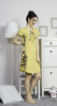 Picture of WOMEN TUNIC YELOW COTTON