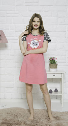 Picture of WOMEN TUNIC STRAWBERRY PINK COTTON