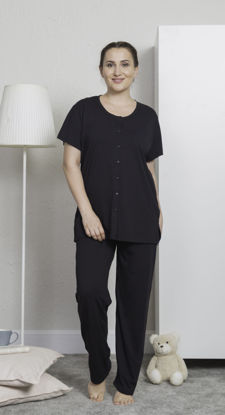 Picture of ENKI WOMEN  COTTON PAJAMA- BLACK