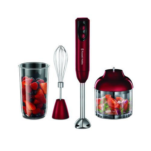 Picture of Russell Hobbs Rosso 3-in-1 Hand Blender 18986 - Red