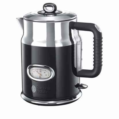 Picture of Russell Hobbs 21671-70 Retro Ribbon Electric Kettle Classic noir-21671-70, Stainless Steel, 2400 W, 1.7 liters, Black