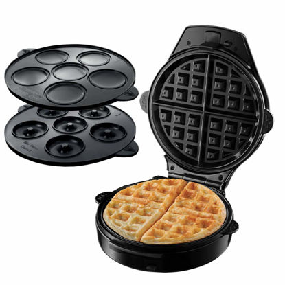 Picture of Russell Hobbs 24620-56 3 in 1 Device for preparing Waffles, Muffins and Donuts Fiesta-24620-56, Black