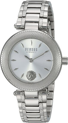 Picture of Versus by Versace Women's Brick Lane Combo Box Quartz Watch with Stainless-Steel Strap, Silver, 177 (Model: VSP712018)
