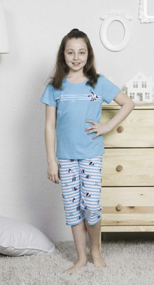 Picture of ENKI GIRLS COTTON B.MINT CAPRI SET