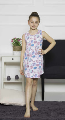 Picture of ENKI GIRLS COTTON GRAY MELANGE TUNIC SET