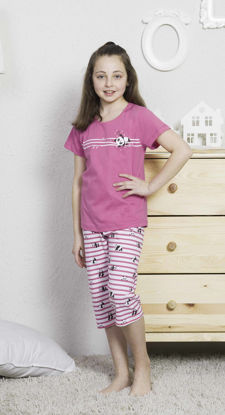 Picture of ENKI GIRLS COTTON ROSE CAPRI SET