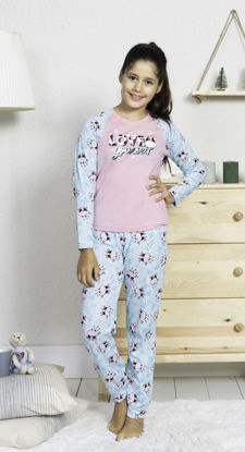 Picture of ENKI GIRLS COTTON ROSEBLOOM PAJAMA SET