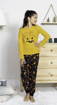 Picture of ENKI GIRLS COTTON YOLK YELLOW PAJAMA SET
