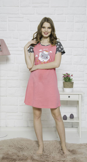 صورة WOMEN TUNIC STRAWBERRY PINK COTTON