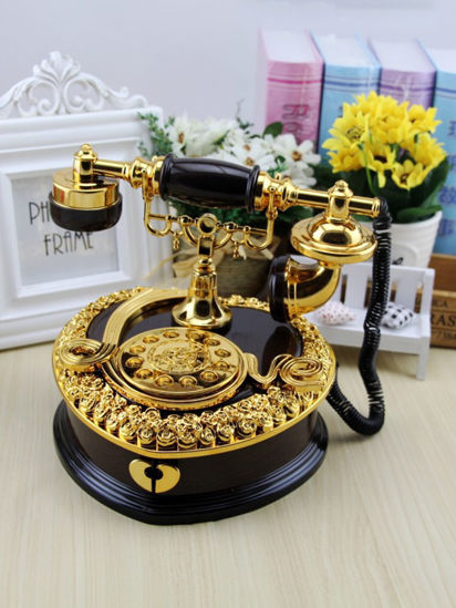 Picture of Music Box Romantic Heart Shaped Telephone Design Home Decor Display -