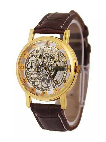 Picture of Men's Mechanical Watch Simple Design Waterproof Watch Accessory - Size: One Size