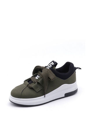 Picture of Women's Lacing Fashion Sneakers Comfy Breathable Leisure Shoes - Size: 38