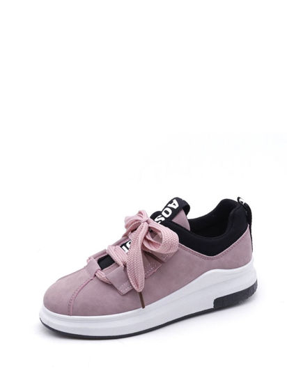 Picture of Women's Lacing Fashion Sneakers Comfy Breathable Leisure Shoes - Size: 40