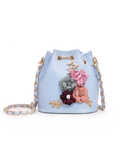 Picture of Women's Crossbody Bag Flower Decor Trendy Fashion Sweet Bag - Size: One Size