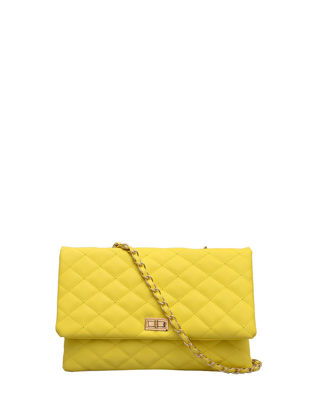 Picture of Women's Crossbody Bag Solid Color Rectangle Shape Chain Bag - Size: One Size