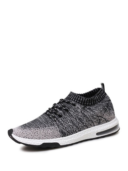 Picture of Men's Running Shoes Damping Comfy Skidproof Low Cut Flyknit Air Cushion Shoes - Size: 46