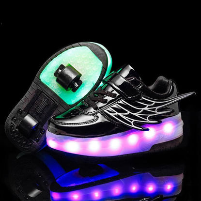 Picture of Kid's Light-Up Shoes Roller Shoes Two-Wheeled LED Light Fashion Shoes - Size: 39