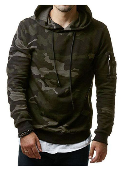 Picture of Men's Hoodie Long Sleeve Camouflage Casual Hoodie - Size: XXL
