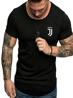 Picture of Men's Slim T-Shirt O Neck Short Sleeve Comfort Casual Top - Size: XXL