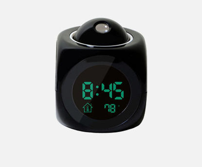 Picture of 1Pc Digital Alarm Clock Wall Ceiling Projection LCD Voice Talking Desk Clock - Size: One Size