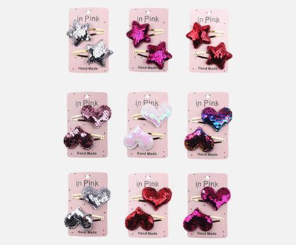 Picture of 18Pcs Girl's Hair Clips Creative Adorable Sweet Hair Accessory - Size: One Size