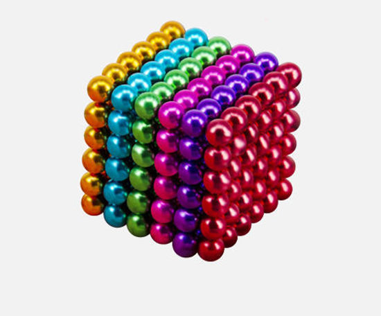 Picture of 216Pcs Magnetic Balls 5 Colors DIY Shape Magic Beads Kids Toy - Size: One Size