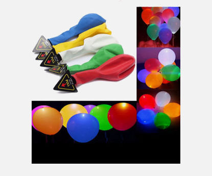 صورة 20 Pcs Light Balloons Mixed Colors Decorative Colorful LED Balloons