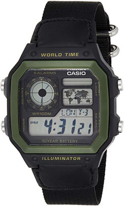 Picture of Casio Men's 'World Time' Military Look Watch [AE-1200WHB-1BV]