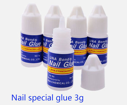 Picture of 5Pcs 3g Nail Glue Professional Artificial Manicure Adhesive Nail Tools -