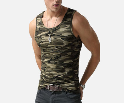 Picture of AKARMY Men's Tank Cotton Blends Camouflage Breathable Slim Cozy Vest