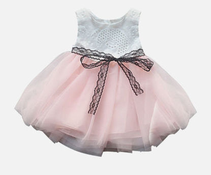 Picture of Baby Girl's Dress Sleeveless Sweet Mesh Dress