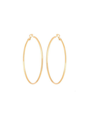 Picture of Women's Earrings Vintage Simple Design Circle Hoop Exaggerate Accessory - 7