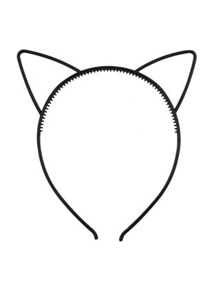 Picture of Women's Hairband Plastic Cat Ear Solid Color Brief Style Adorable Hair Accessory - Free