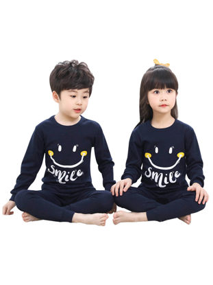 Picture of Kid's Boys And Girls 1 Set Brother & Sister Family Outfits Cartoon Pattern Casual Pajamas Set Family Outfits - Reference Height:Boy 100cm