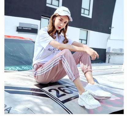 Picture of Women's Casual Pants Striped Pattern Ankle Tied Pants - M