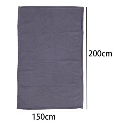 Picture of One Piece Blanket Solid Color Soft Sleeping Bedroom Sofa Bedding Accessory - 70*100(W*L)cm