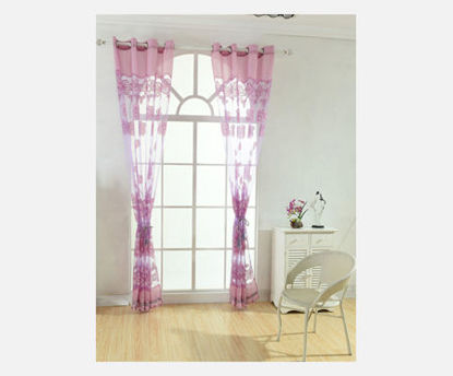 Picture of 1 Piece Home Curtain Simple Style Floral Pattern Home Hanging Curtain - One Size