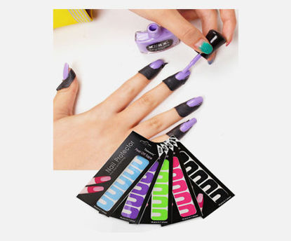 Picture of 20Pcs Nail Polish Anti Overflow Stickers Clean Professional Nail Tools