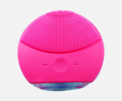 Picture of Electric Silicone Facial Cleaner Ultrasonic Vibration Massager Device -