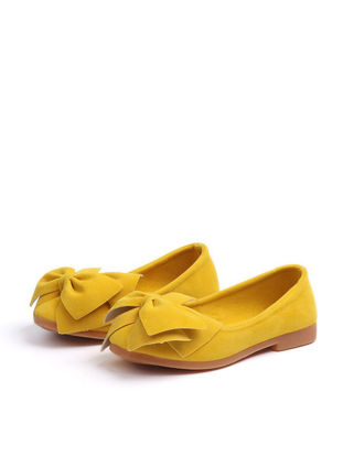 Picture of Girl's Flats Bow Ornament Solid Color Flats -Size: COLOR:Yellow